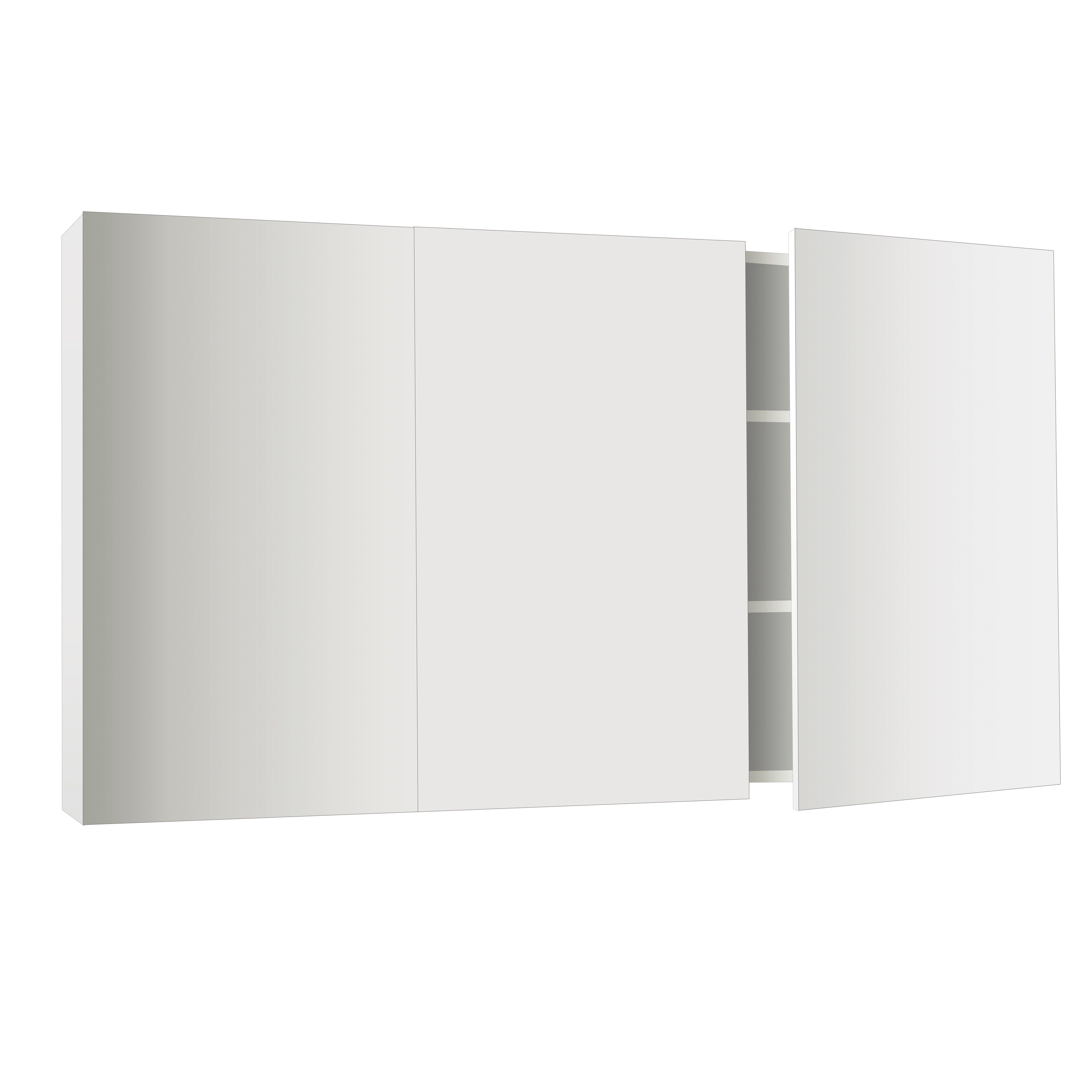 Essence 1 750mm wide shaving cabinet cibo design - Osca Pencil Edge Mirrored Cabinet 1200mm