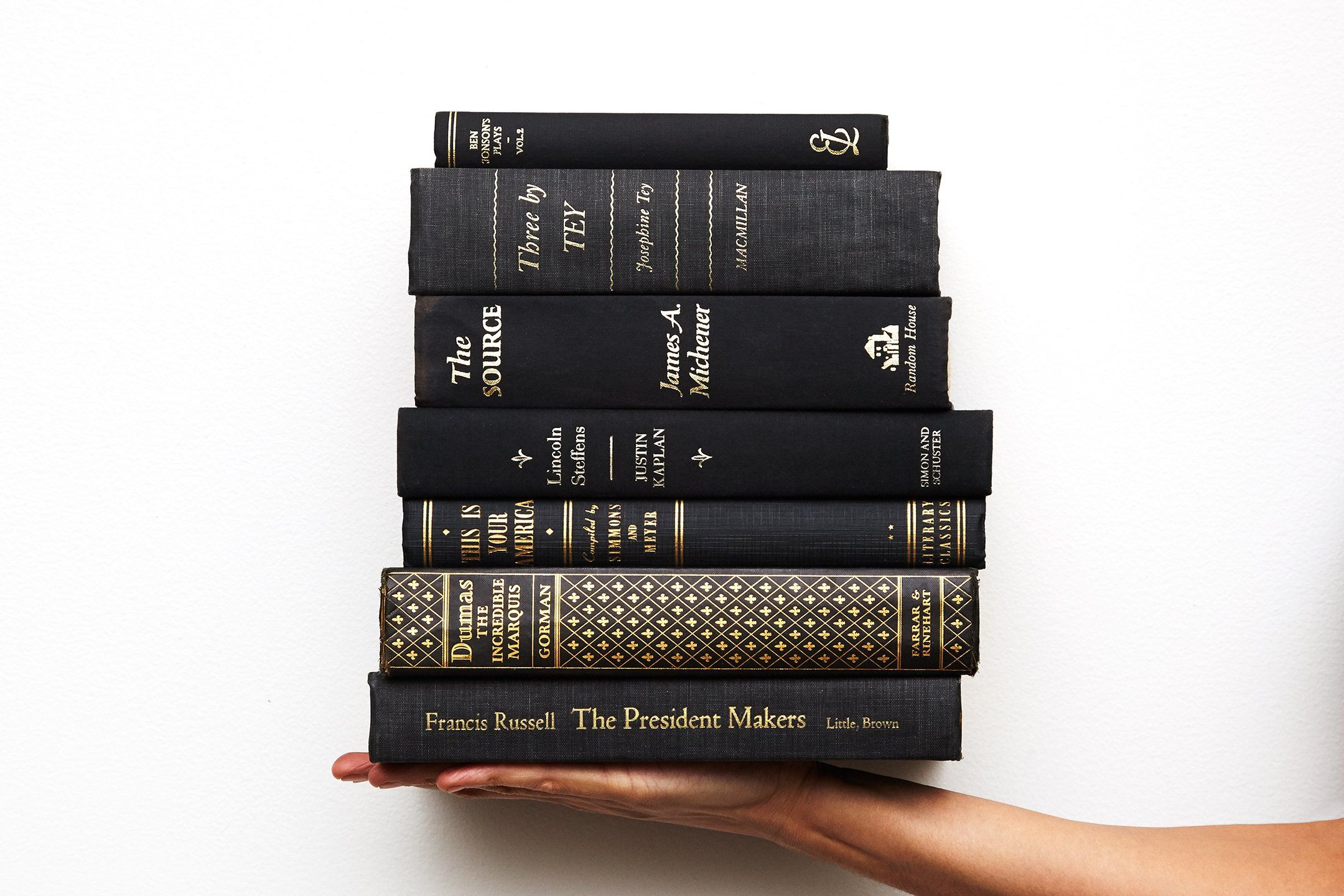 Black Decorative Books For Display Sold By The Foot Decades Of Vintage Book Decor Book Set Vintage Books