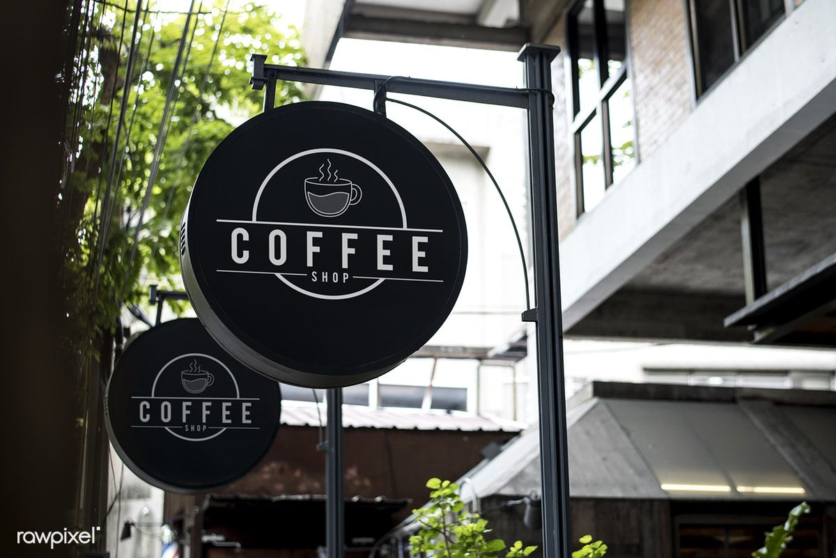 Download Premium Image Of Black Sign Outside A Restaurant Mockup 418765 Cafe Signage Coffee Shop Signs Coffee Signage