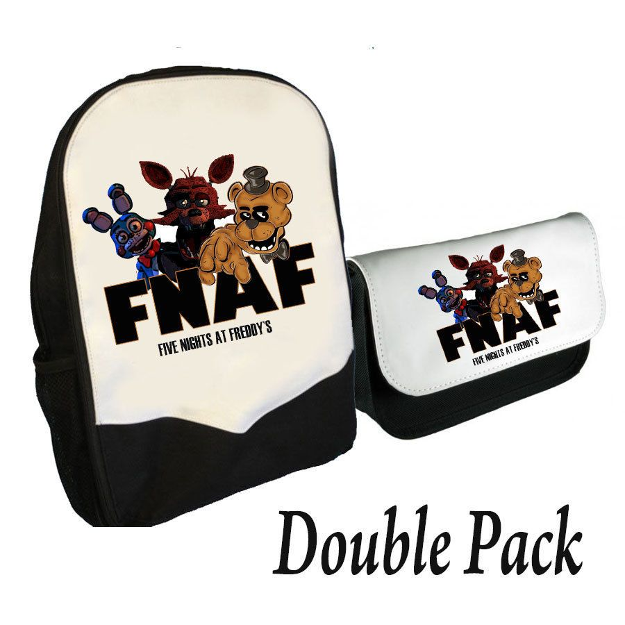 FIVE NIGHTS AT FREDDY/'S BACKPACK AND PENCILCASE DOUBLE PACK FNAF GANG BMS