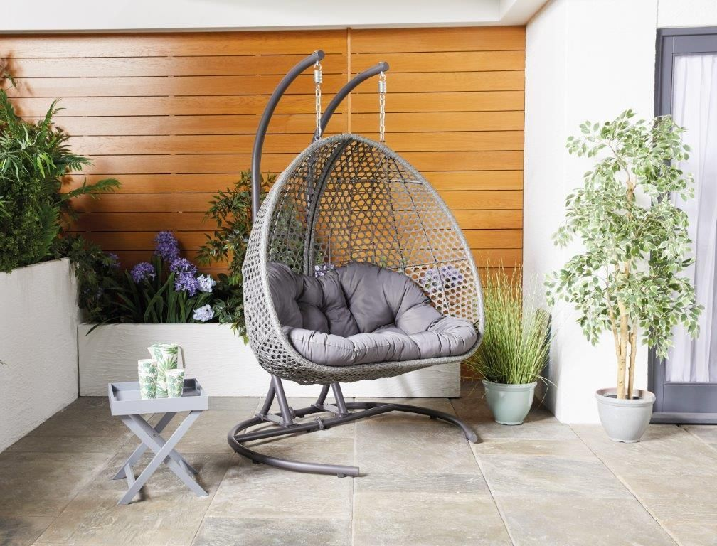 Aldi's sellout hanging egg chair is back in a larger size