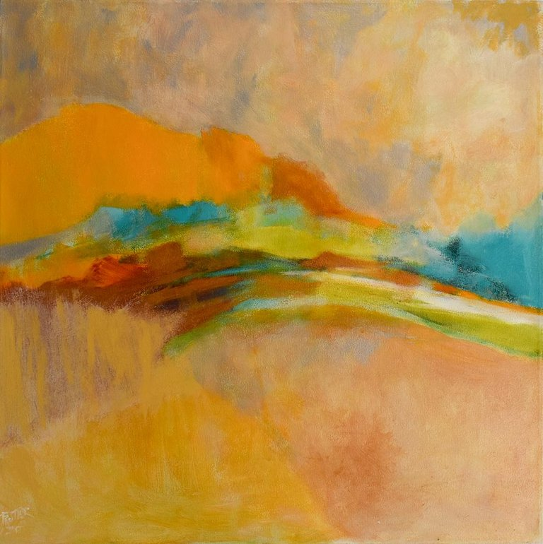 Nancy Rutter Gold March Large Colorful Abstract Painting On Canvas Yellow Orange And Teal Abstract Art Painting Abstract Painting Canvas Painting