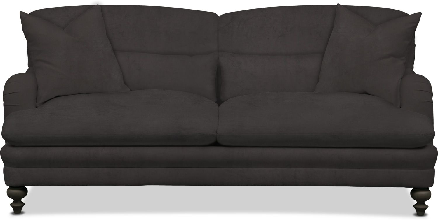 Statley L Sterling Black Sofa
