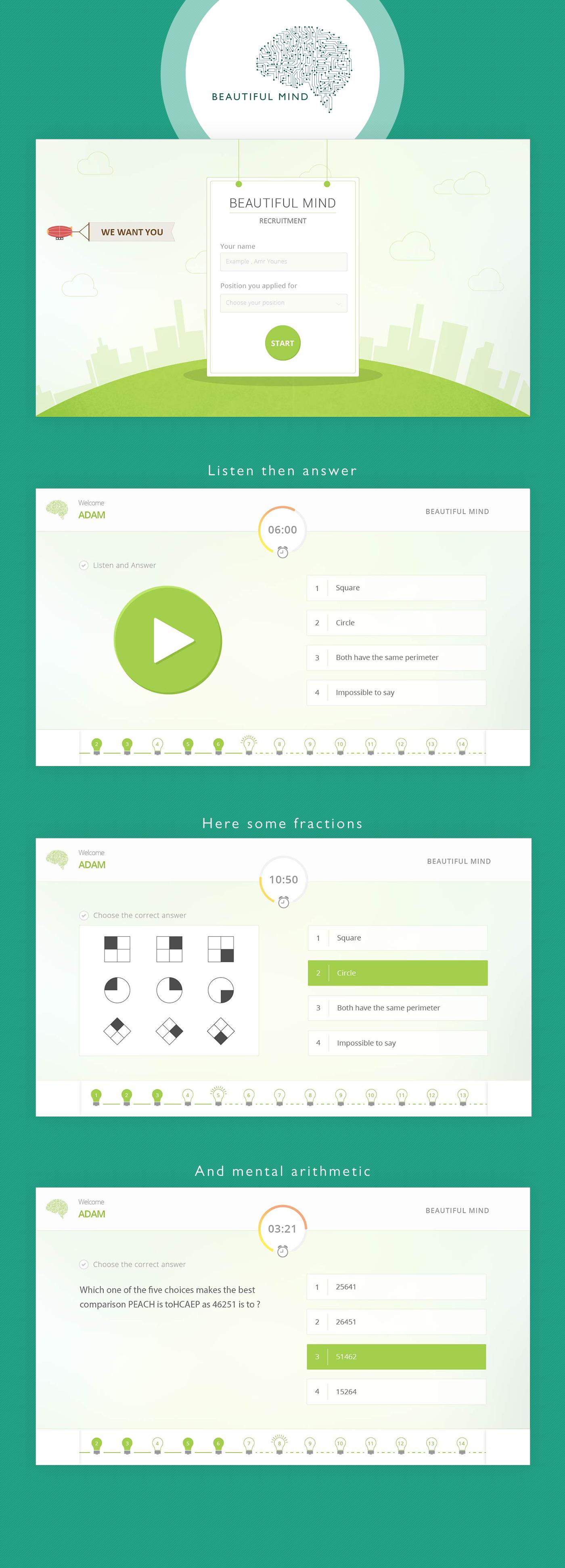 Behance Editing Quiz Food Quiz Design Online Web Design Web Design