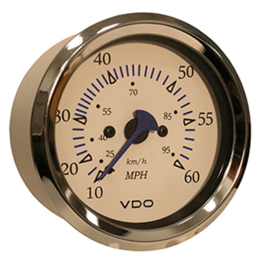 Vdo Allentare White 60mph 3 8 85mm Pitot Speedometer Products Gas Gauge Wiring Diagram 240 33 Ohm