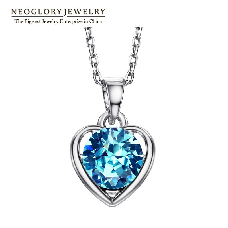 Blue Heart Love Gifts Chokers Necklaces & Pendants For Women New ...