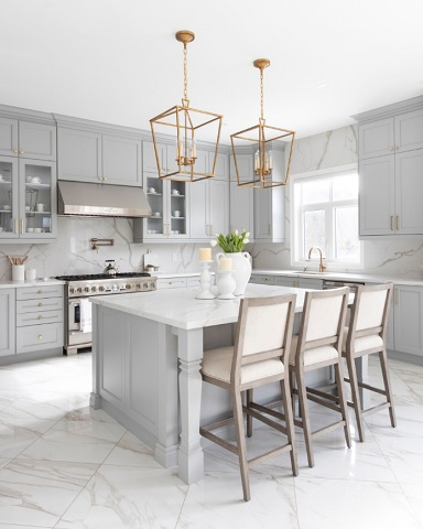 Tone It Up with a Neutral Grey Kitchen