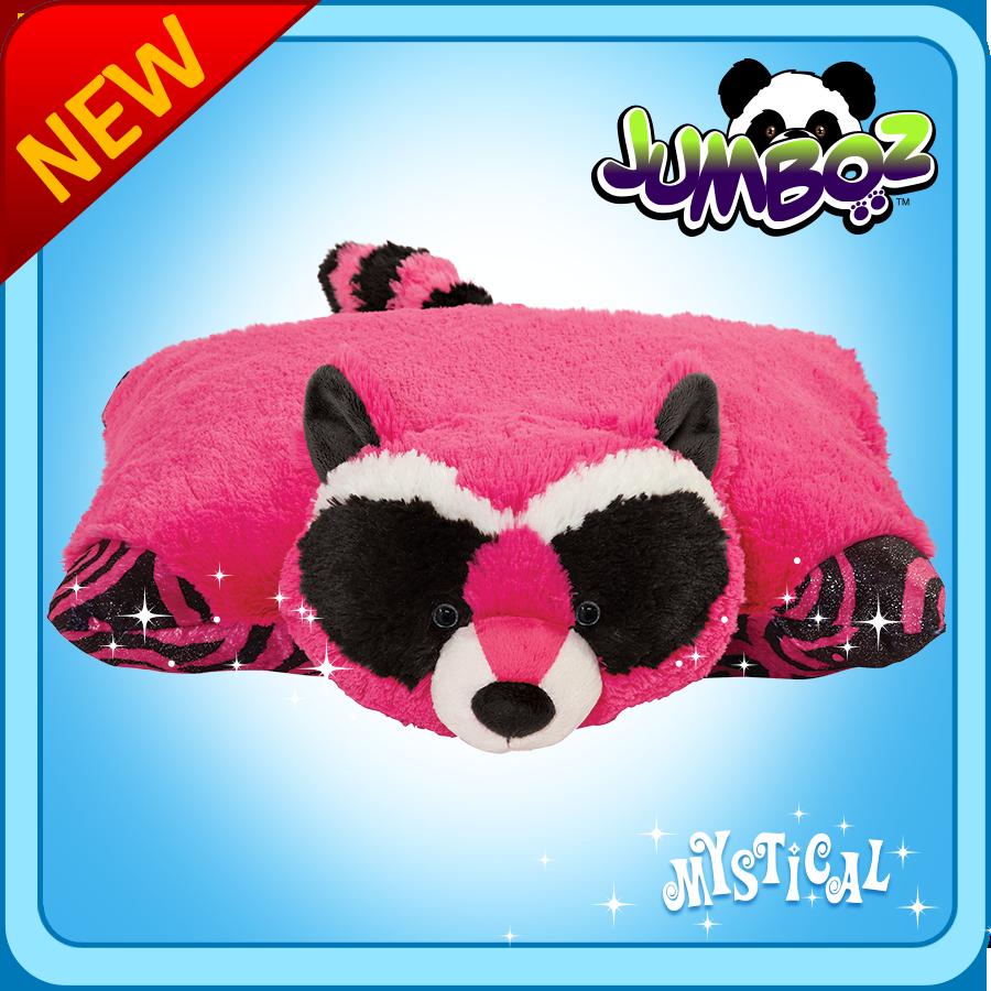 Jumboz Plush Jumboz Mystical Raccoon My Pillow Pets The Official Home Of Pillow Pets Animal Pillows Large Stuffed Animals Animal Plush Toys