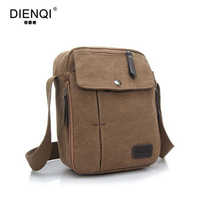 bc16a123bb DIENQI Brand High Quality Multifunction Men Canvas Bag Casual Travel Bolsa  Masculina Men s Crossbody Bag Men Messenger Bags