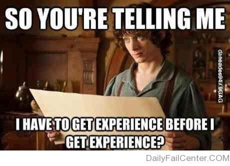 Funny Images: How to Get Experience when everyone asks for