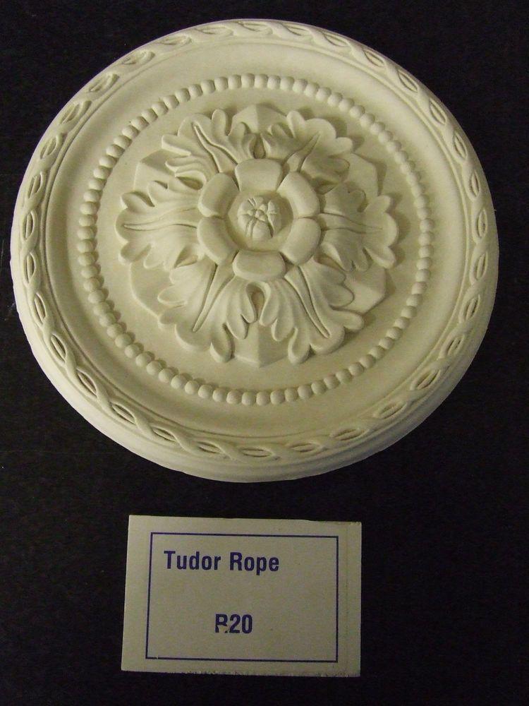 "diameter 280mm Small Plaster Ceiling Rose /'Tudor Rope/' Design 11/"""