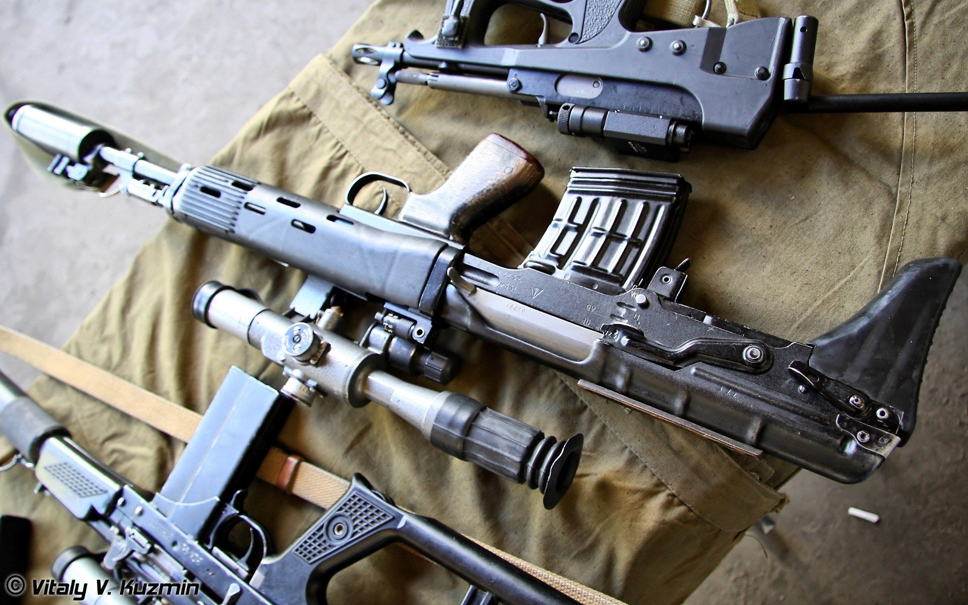 Vss Vintorez Svu Guns Weapons Sniper Rifles Widescreen Desktop Mobile Iphone Android Hd Wallpaper And