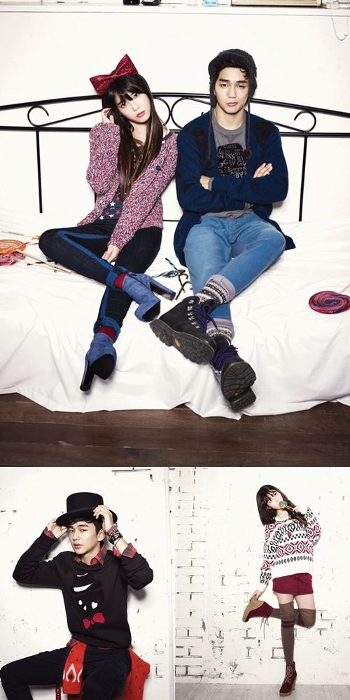 IU and Yoo Seung Ho pose for G by GUESS' 2012 F/W catalog