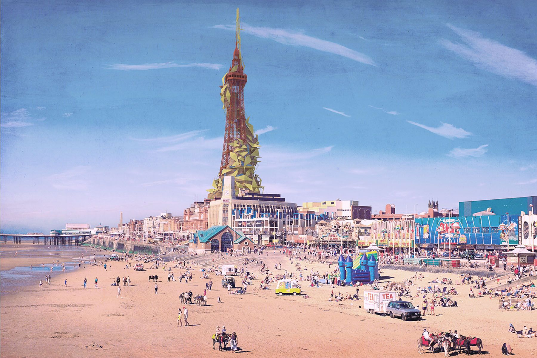 The Monster Of Blackpool Tower Postcard In 2020 Tower Tokyo Tower Holiday Resort