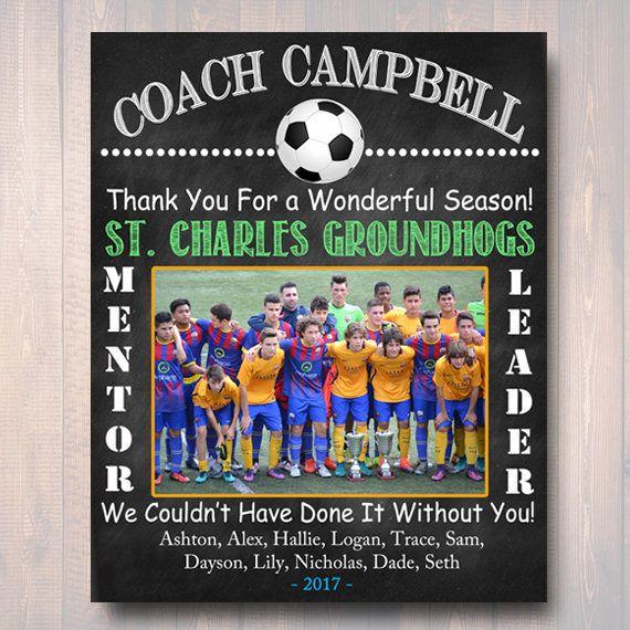 Soccer Coach Gift Coach Award Soccer Team Gift End Of Etsy In 2020 Soccer Coach Gifts Coach Gifts Soccer Team Gifts