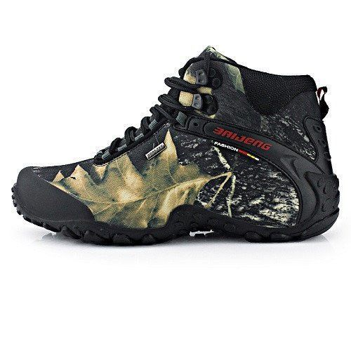 New fashion waterproof canvas hiking shoes boots Anti-skid Wear resistant breathable fishing shoes climbing high shoes