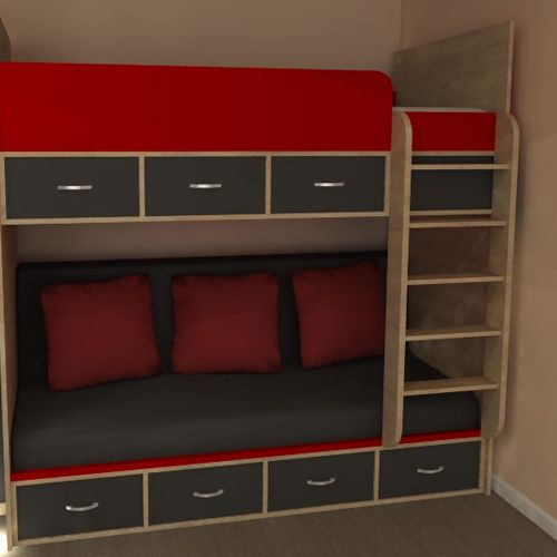 Phoenix high sleeper bed with under bed sofa Ideal for your older
