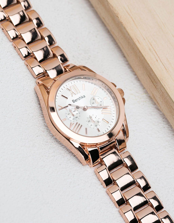 Montre Casio Couleur Or destiné bershka france - montre métal ronde couleur | look | pinterest