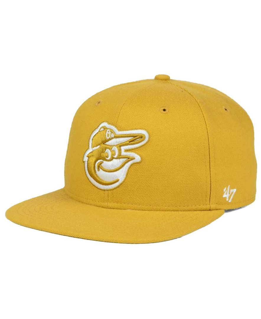 7feda11df1b  47 Brand Baltimore Orioles Wheat Sure Shot Snapback Cap.