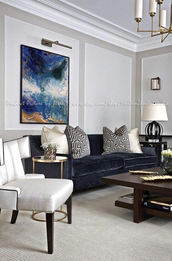 Abstract Room Designs: Oil Painting, Hand Made Extra Large Contemporary Painting