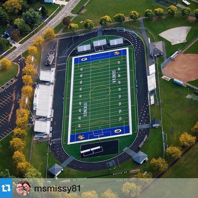 Geneva football field in my hometown. Go Vikings