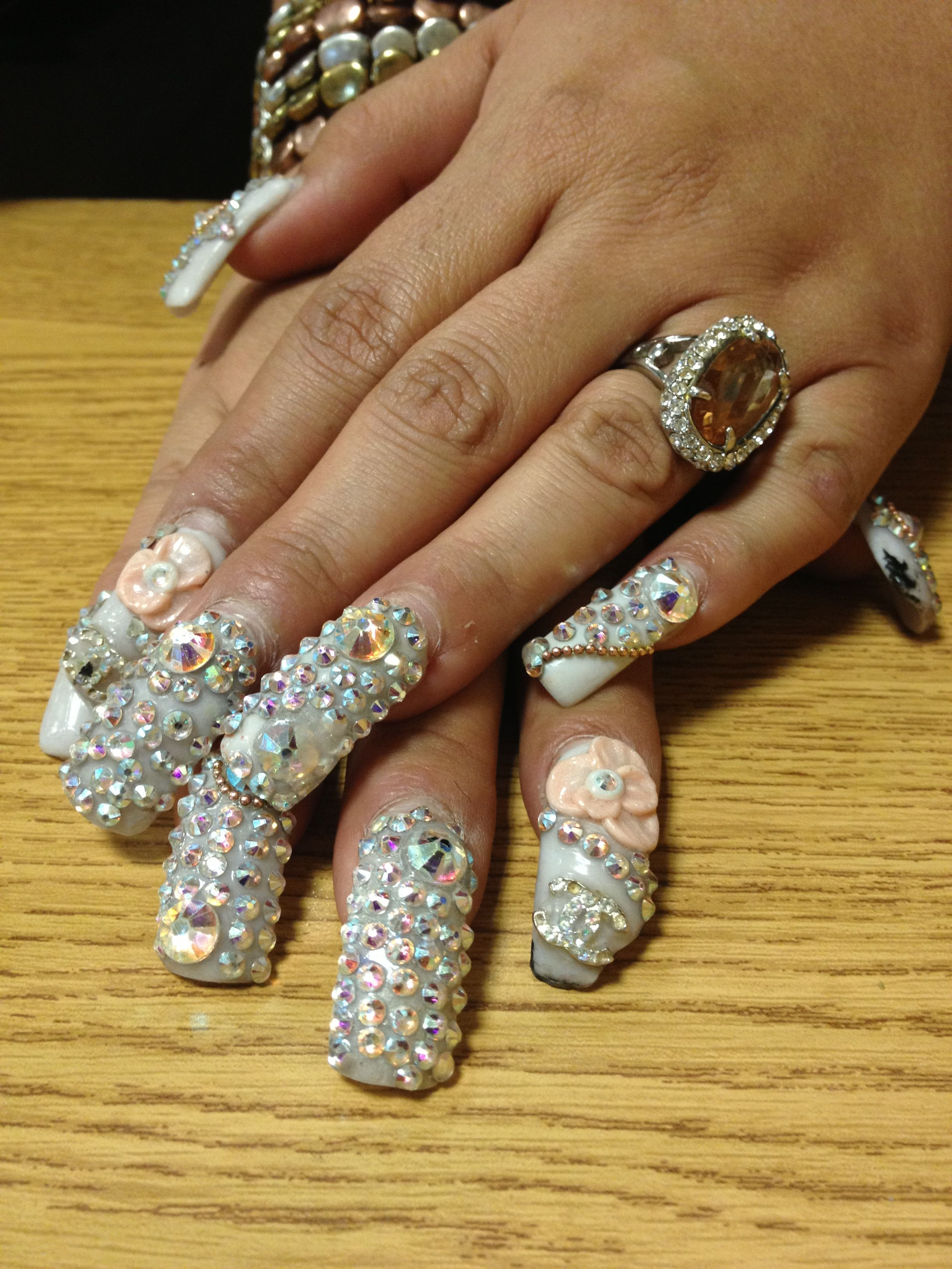 African Fancy Nails Quinceanera Nails Quinceañera Nails