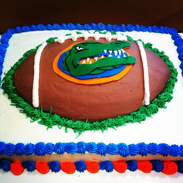 Cool Florida Gators Birthday Cake With Images Party Cakes Grooms Funny Birthday Cards Online Elaedamsfinfo
