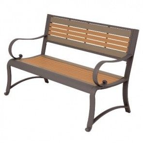 Marvelous Two Tone Garden Bench