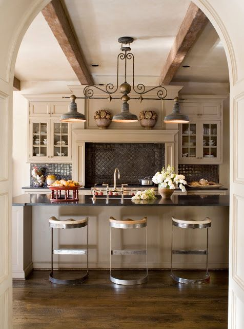 Great 57 Inspiring Kitchen Hanging Lights Ideas : Kitchen Hanging Lights Ideas  With White Wall Wooden Kitchen Island Sink Oven Stove Cabinet Stool  Chandelier ...