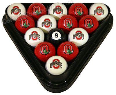 Ohio State University Billiard Ball Set Buckeye Pool Table Collectibles