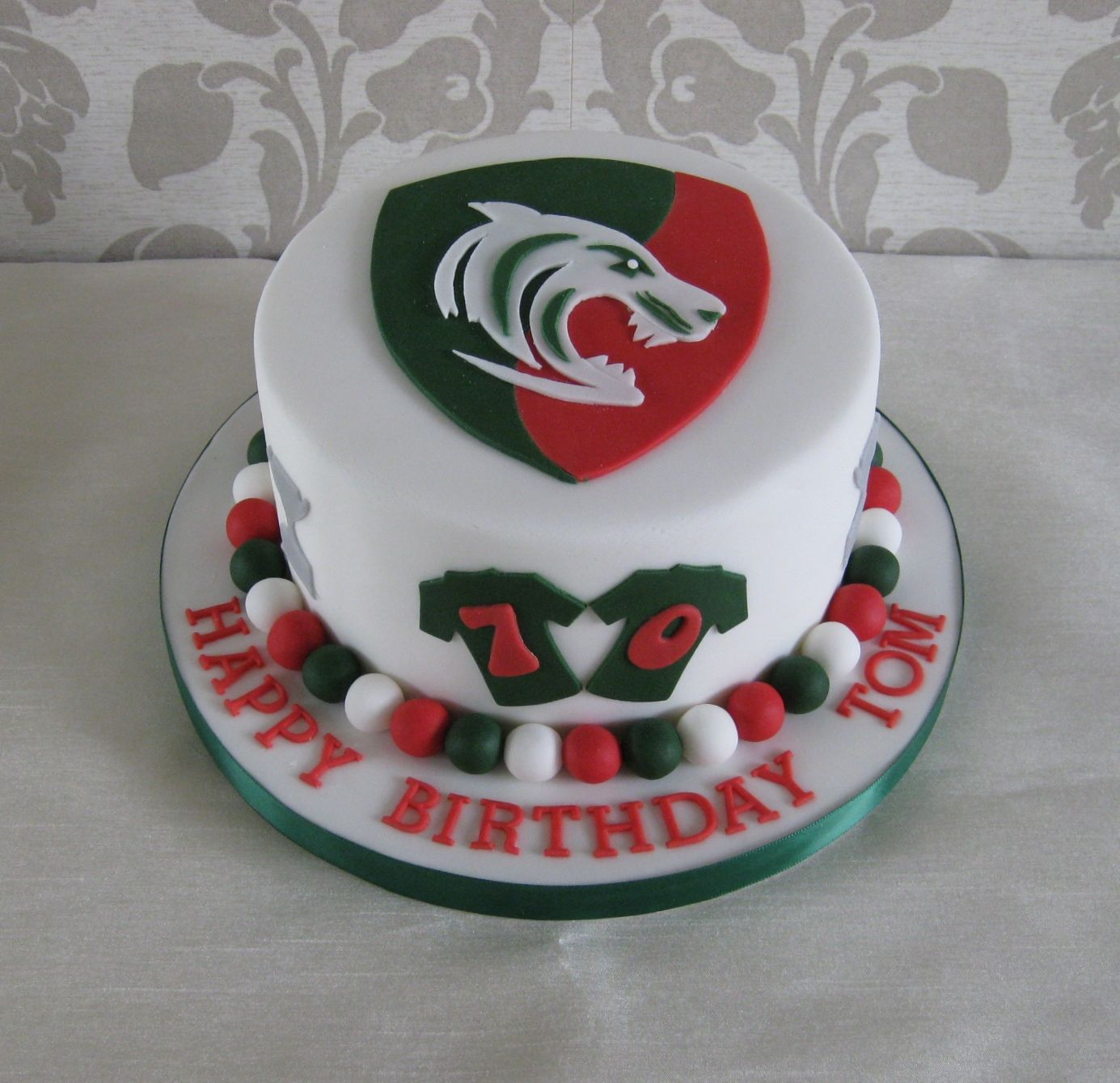 Leicester Tigers Birthday Cake Bruce 70 Pinterest Leicester