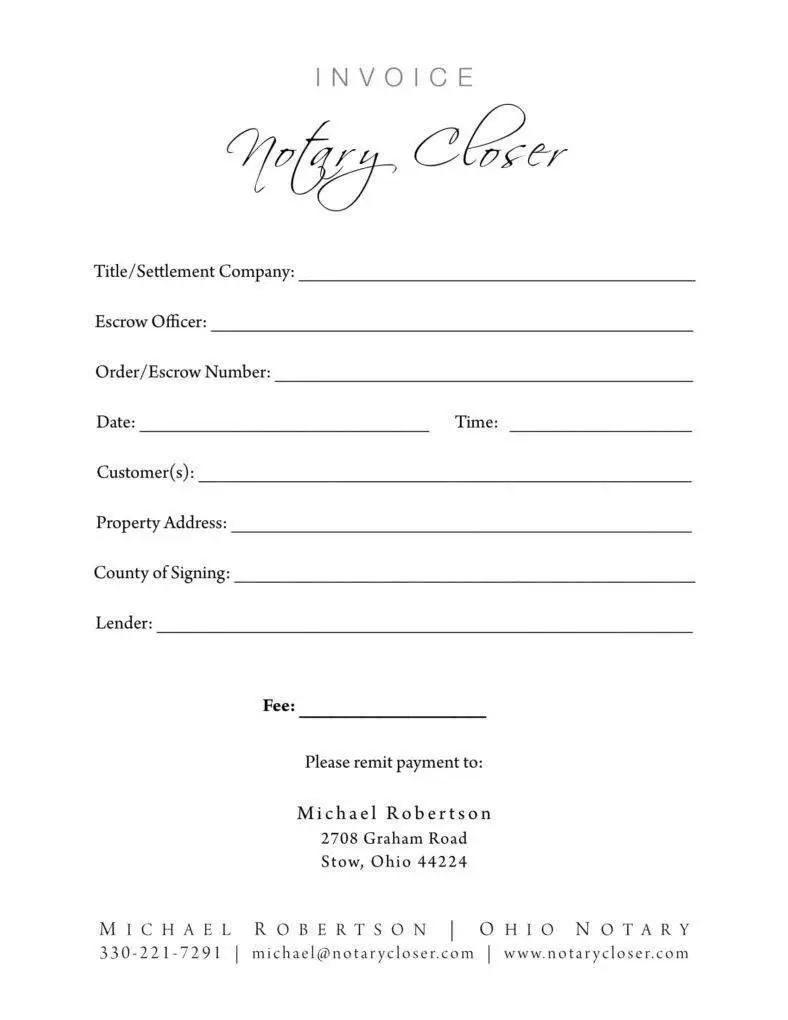 Notary Invoice Ecosia
