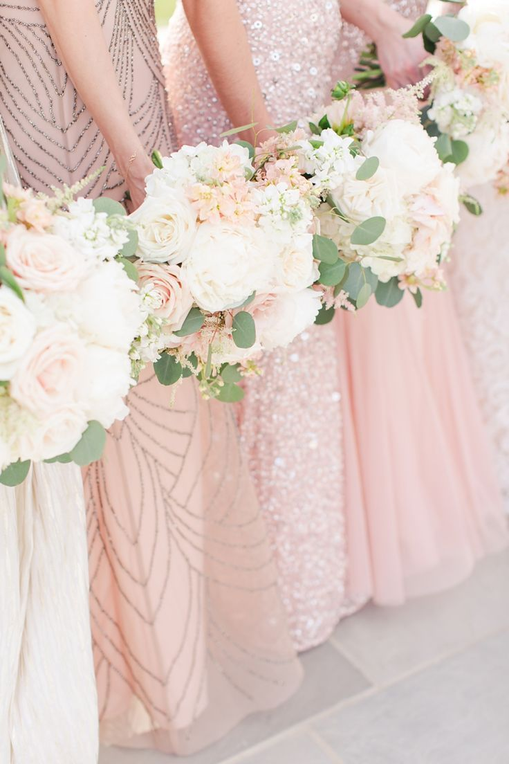 Pink and ivory wedding dress  A Grey Navy Blush Ivory and Lace Inspired Spring Wedding at