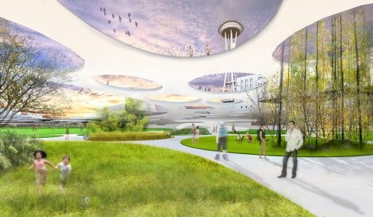 Urban Intervention Seattle Center Competition Proposal / Hoshino Architects