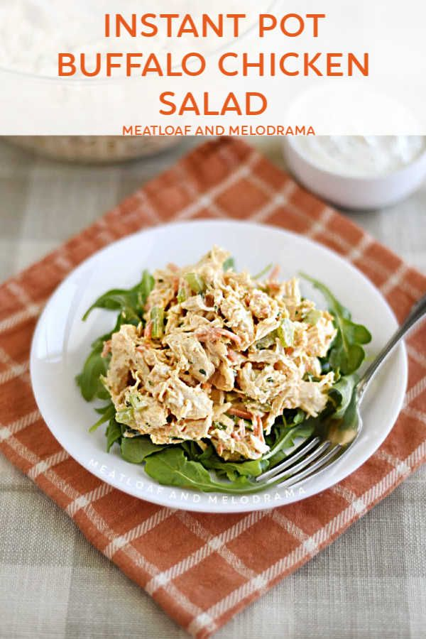 Instant Pot Buffalo Chicken Salad #meltingpotrecipes