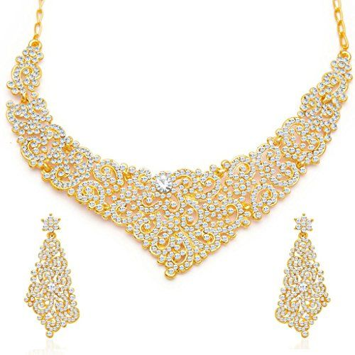 Sukkhi Alluring Gold Plated AD Necklace Set for Women Sukkhi http://www.amazon.in/dp/B010XW97YO/ref=cm_sw_r_pi_dp_Hskexb1YKVDGE
