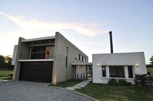 Casa Construida Con Bloques Ladrillos De Cemento Hormigón Sin Revestir Olimpia 3 Bloque De Hormigon Bloques De Cemento Hormigon Visto