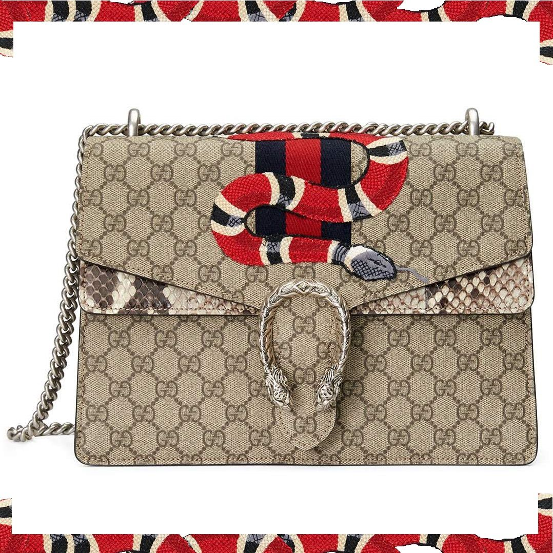 Gucci Dionysus Snake-Embroidered Crossbody Bag  1c731caffaa