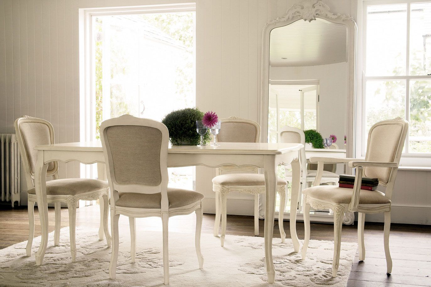 Provencale Extended Dining Table In Ivory From Laura Ashley