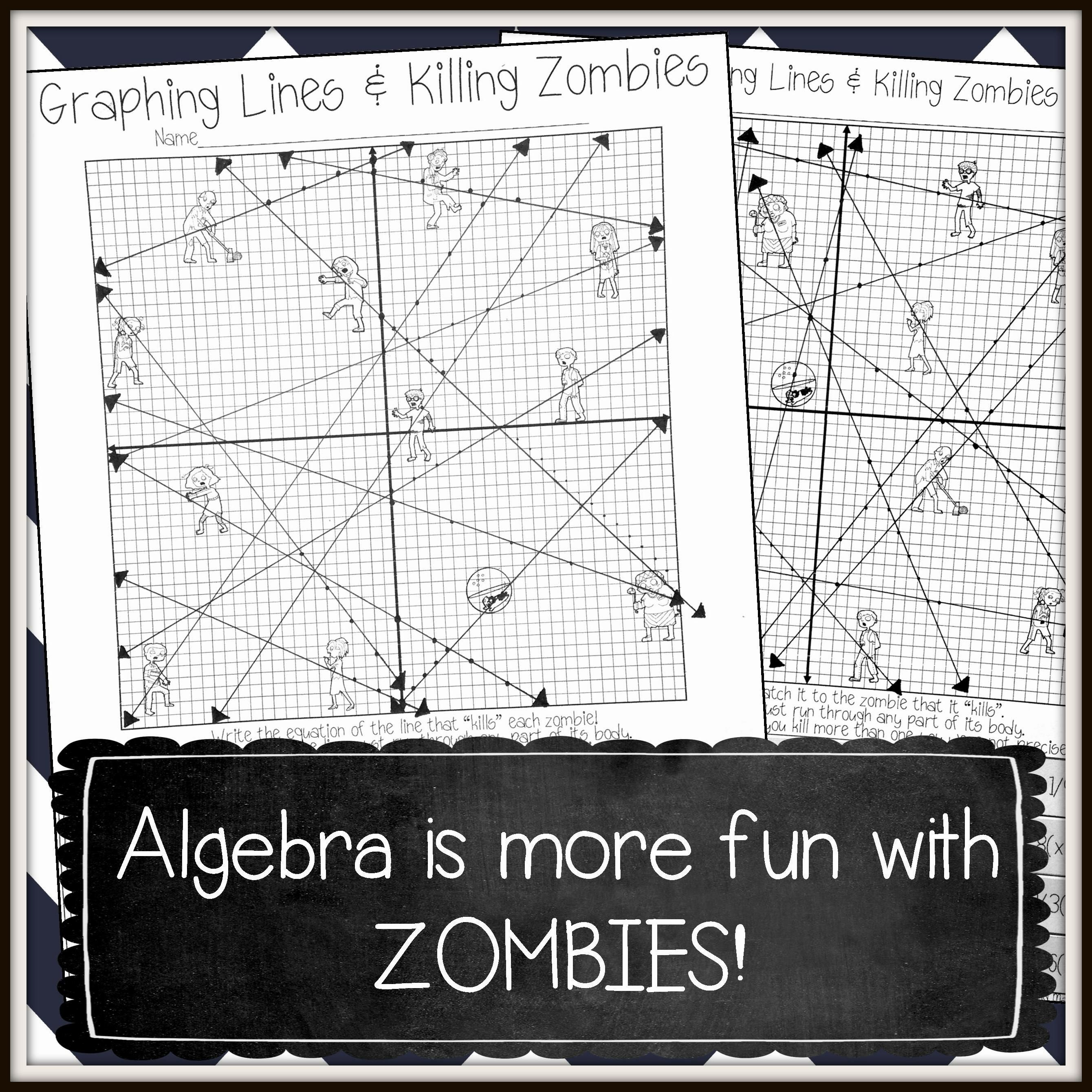 Graphing Lines Zombies Graphing Lines In Point Slope Form Activity Graphing Linear Equations Activities Graphing Linear Equations Point Slope [ 2680 x 2680 Pixel ]