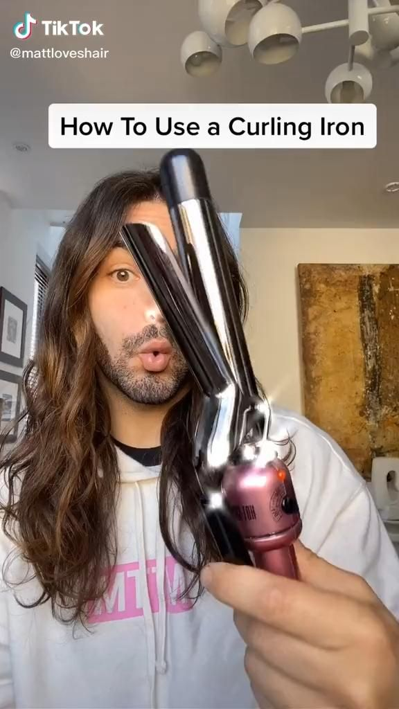 How To Use A Curling Iron Video In 2020 Aesthetic Hair Hair Hacks Hair Tutorial