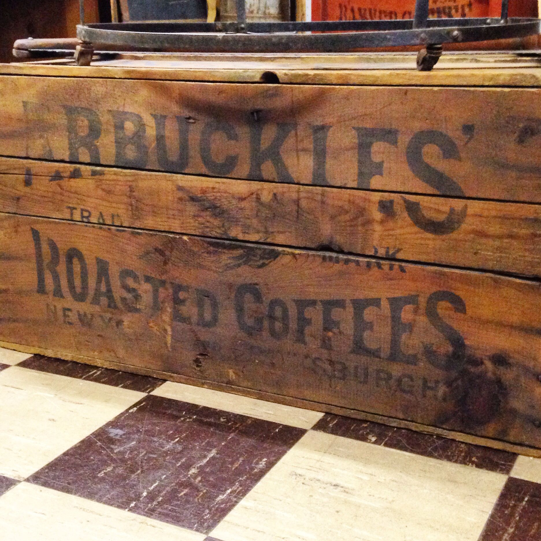 Found this awesome Antique Coffee Chest / Box / Grocery