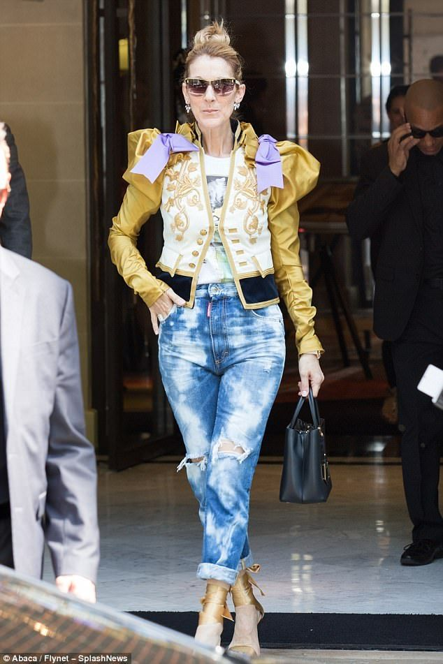 26e137231a6 Celine Dion continues to flaunt bold image overhaul in Paris ...