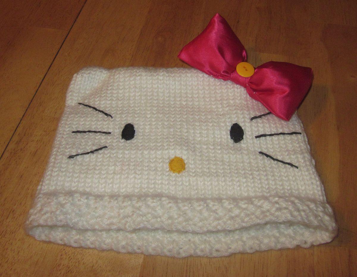 Kitty Cat Hat | Hello kitty crochet, Cat hat pattern ...