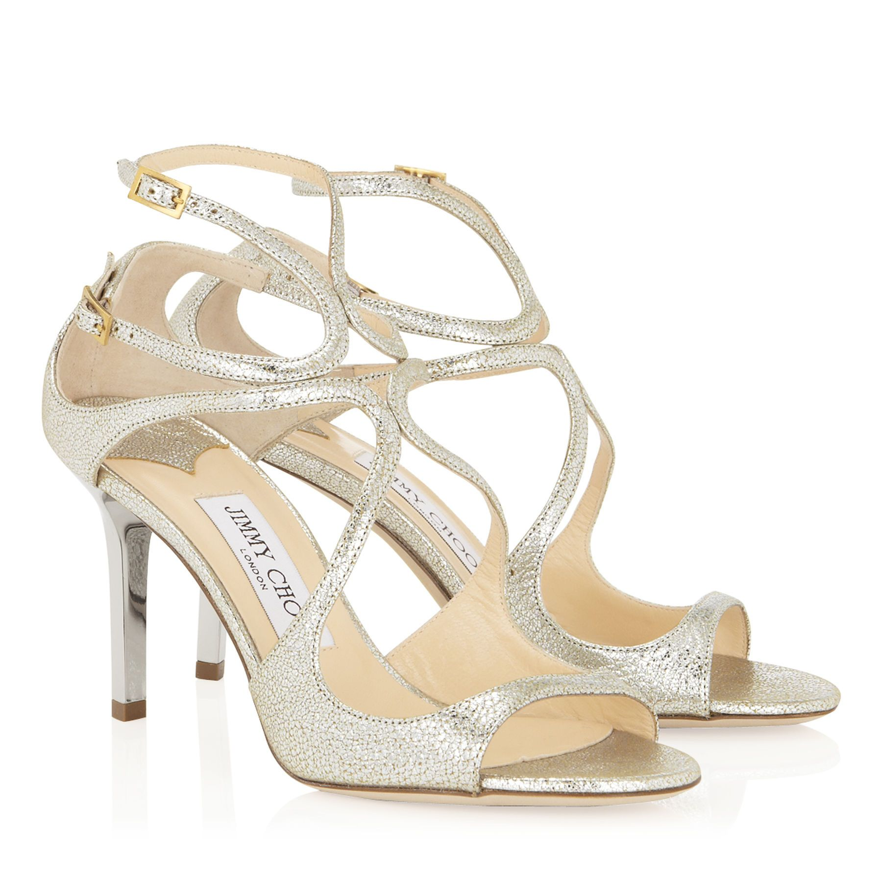 Champagne Glitter Strappy Sandals From Jimmy Choo Discover Our Collection And Shop For The Latest Trends Today