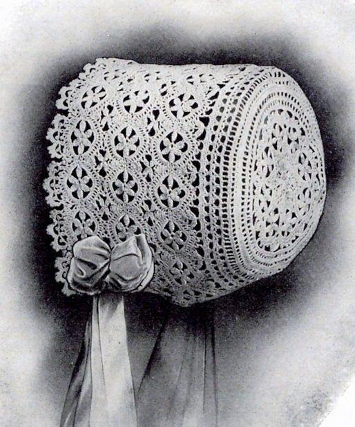 Lace Baby Bonnet PDF Vintage Crochet pattern Edwardian era antique ...