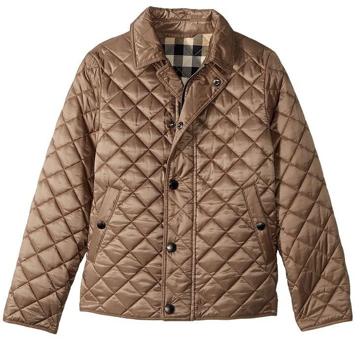 Burberry Kids Luke Quilted Jacket Boy S Coat Kids Heaven