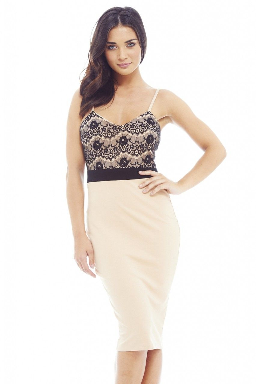 AX Paris Synthetic Black Tiered Crochet Dress - Lyst
