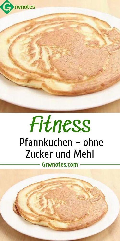 Fitness Pfannkuchen – ohne Zucker und Mehl – REZEPTE   - Low Carb - #Carb #Fitness #Mehl #Ohne #Pfan...