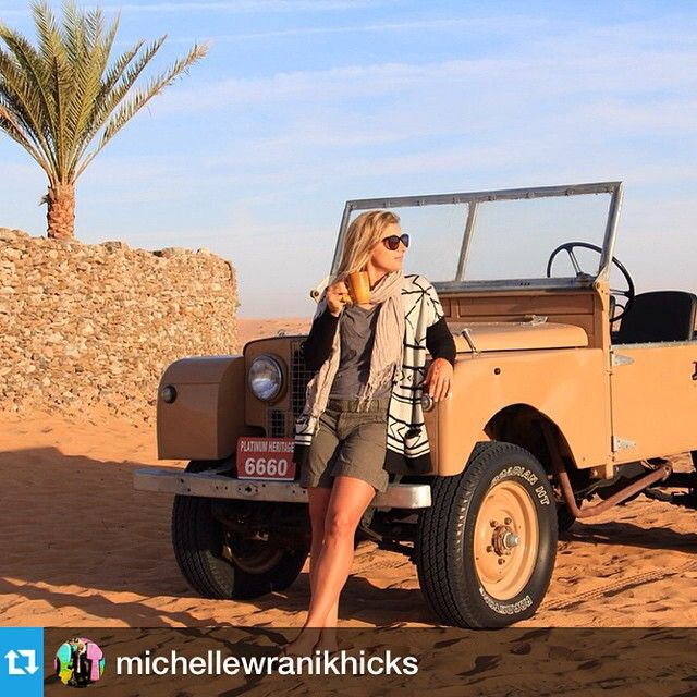 Posing On Vintage Land Rover ★ App For Land Rover Warning